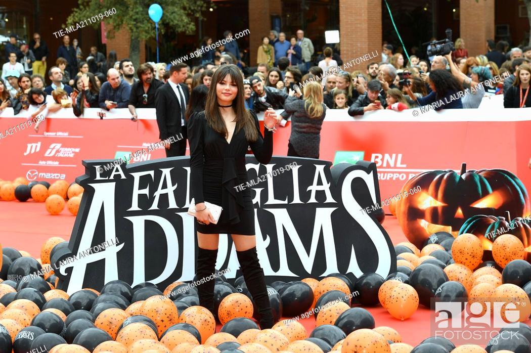 Imagen: Eleonora Gaggero during the red carpet of cartoon ' La famiglia Addams ' at the 14th Rome Film Festival, Rome, ITALY-20-10-2019.
