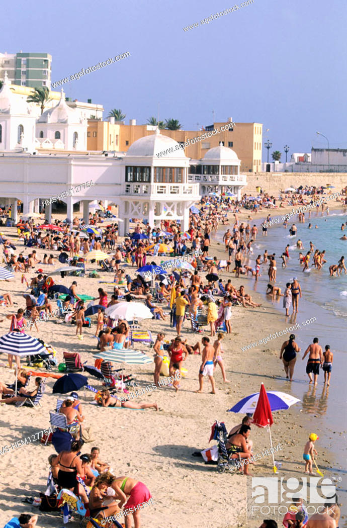 Stock Photo: Spain, Andalusia, Cadiz, Caleta beach.