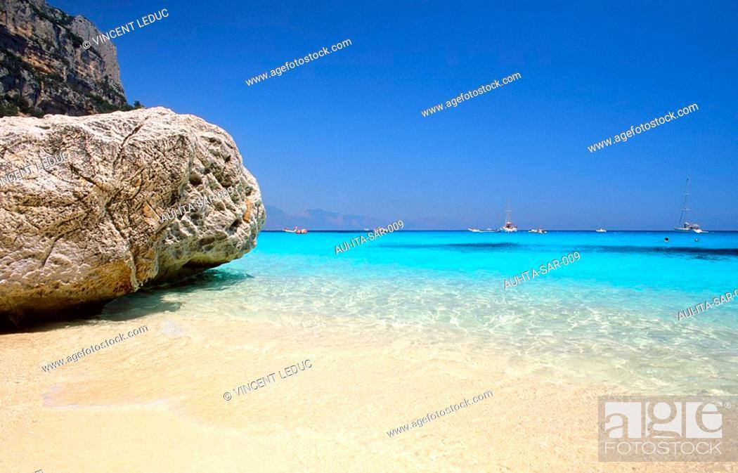 Stock Photo: Italy - Sardinia - East Coast Region - Orosei Gulf - Cala Goloritze.