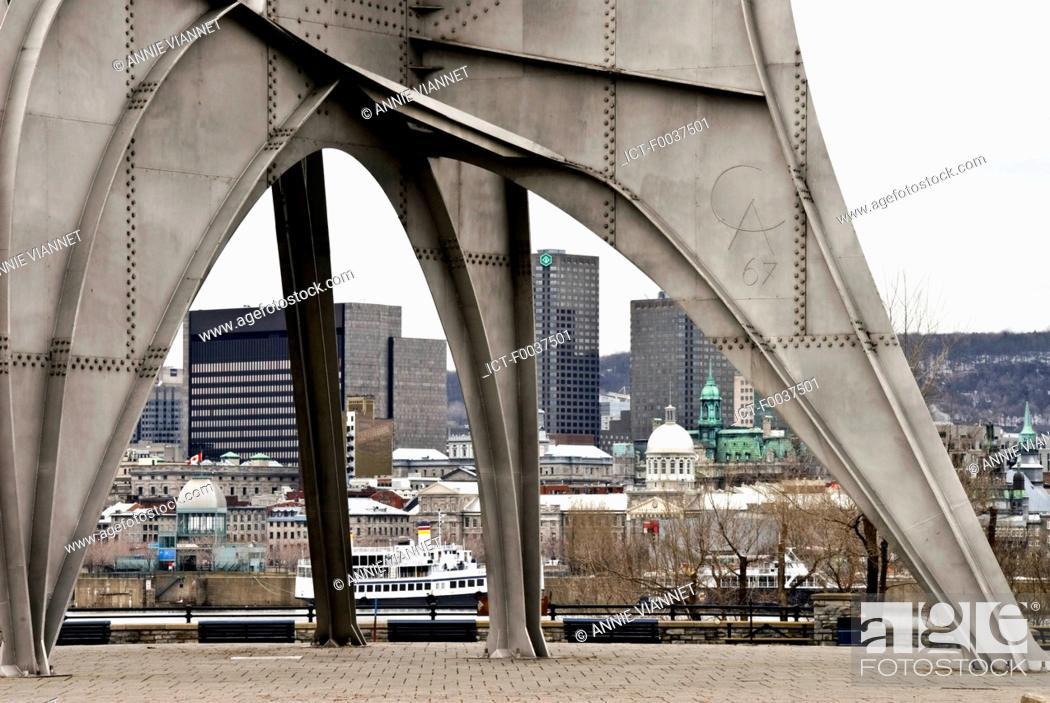 Stock Photo: Canada, Quebec, Montreal, Saint Helen's island, sculpture.