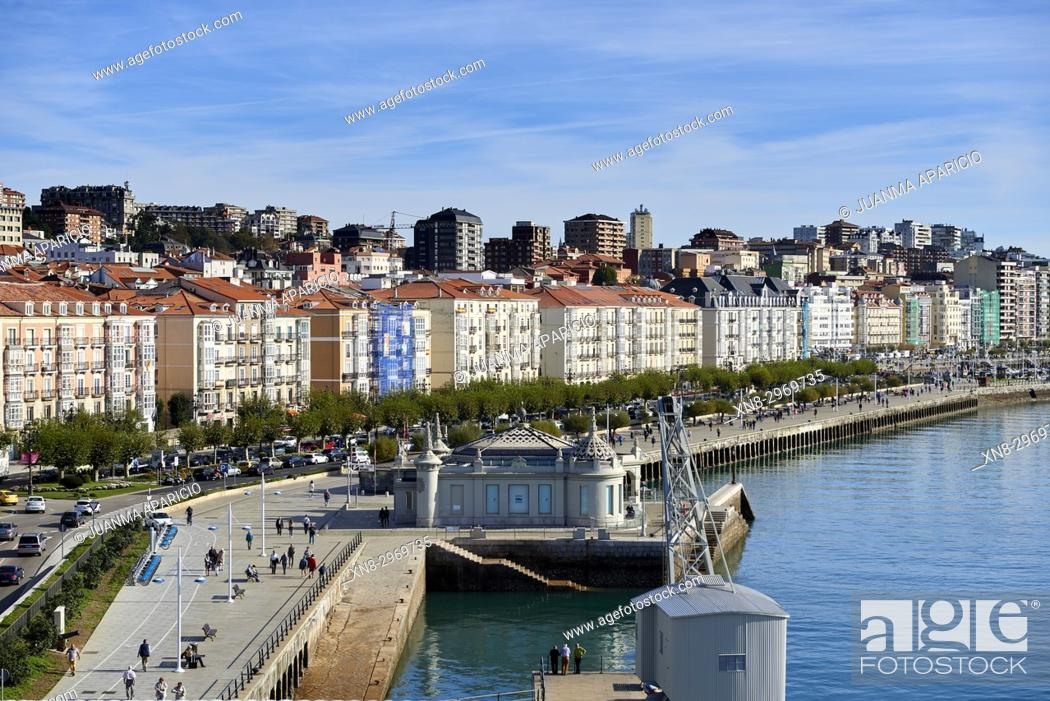 Stock Photo: Paseo de Pereda, Santander, Cantabria, Spain, Europe.
