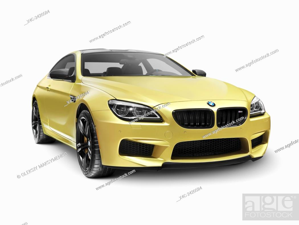 Gold 2015 Bmw M6 Coupe Luxury Car Isolated On White Background With