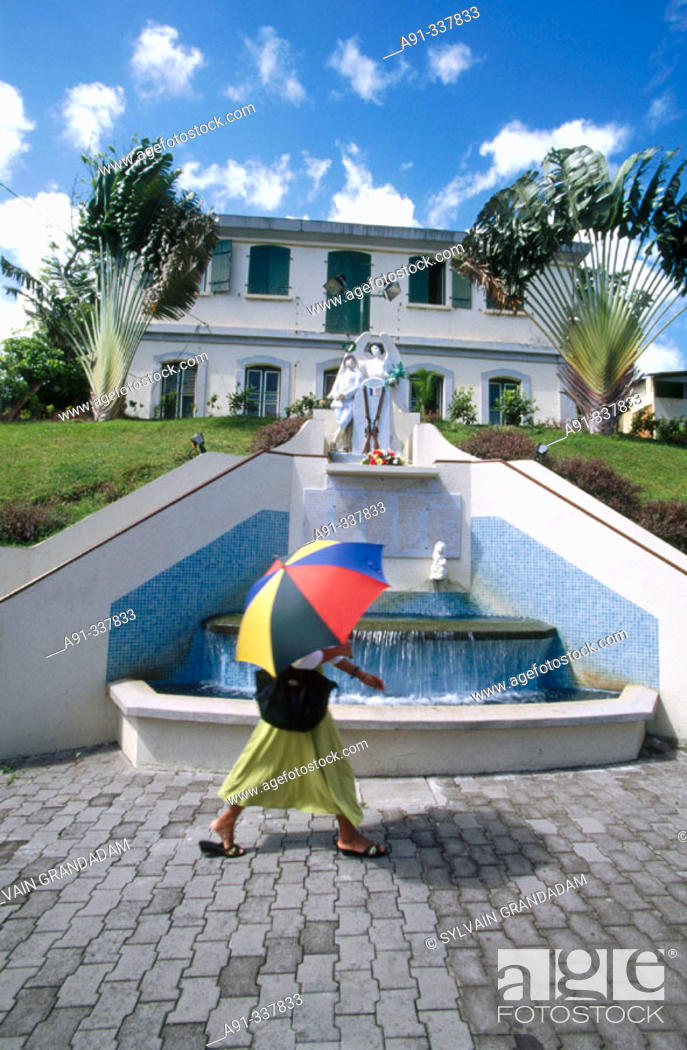 Stock Photo: War monument. Martinique, Caribbean, France.