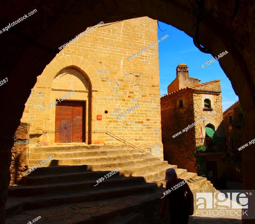 Stock Photo: Madremanya  Medieval town  Girona  Catalunya  Spain.