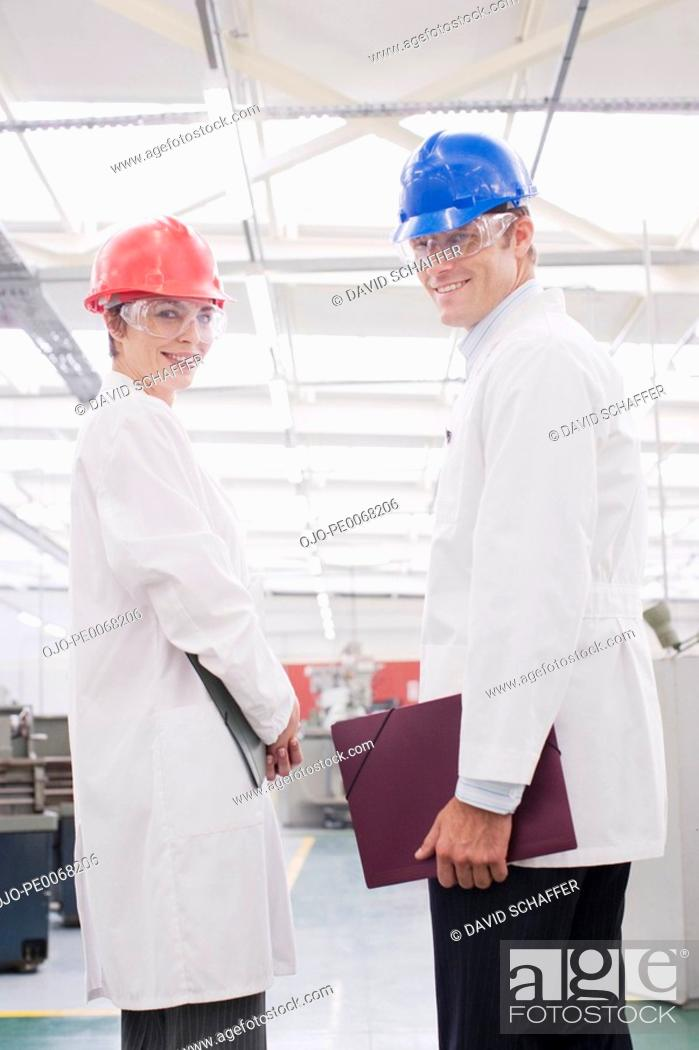 Stock Photo: Workers in lab coats in laboratory.