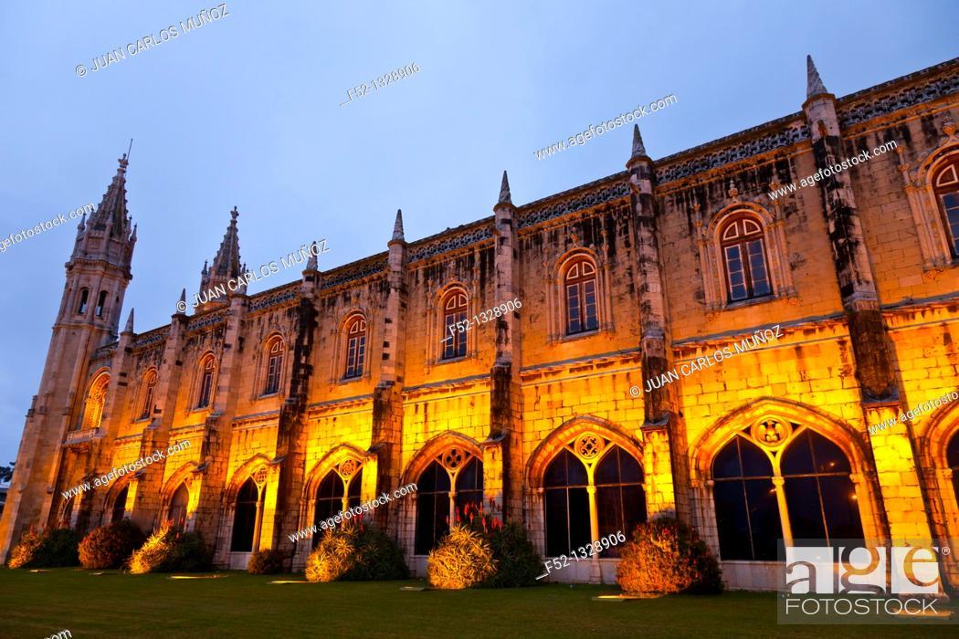 Stock Photo: Jeronimos Monastery, Belém district, Lisbon, Portugal, Iberian Peninsula, Europe.