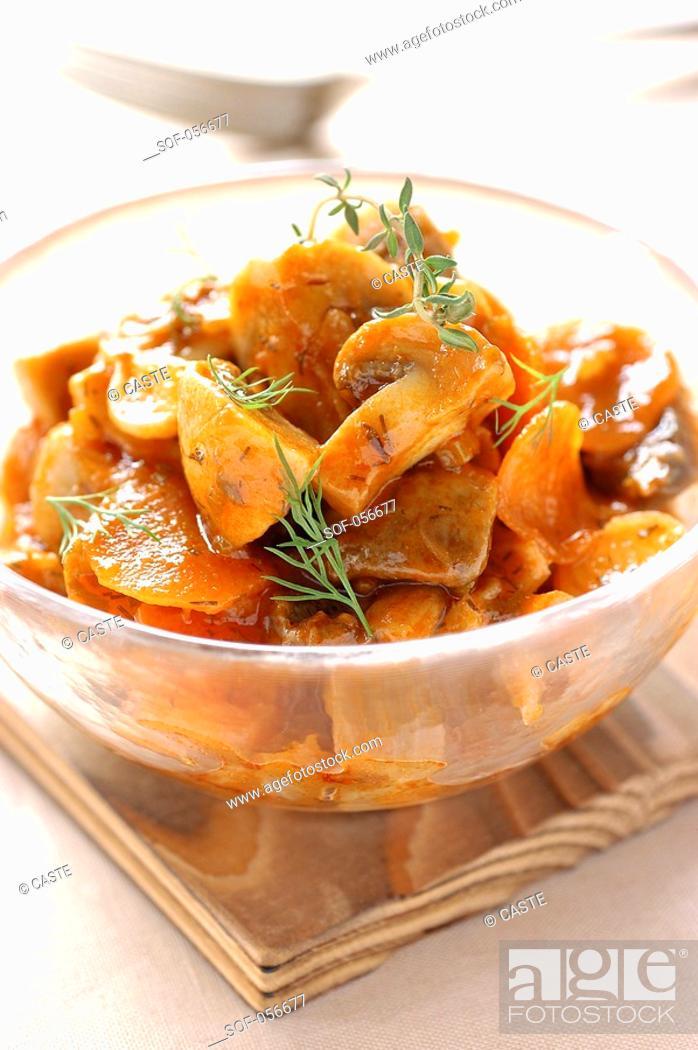 Stock Photo: Greek-style mushrooms.