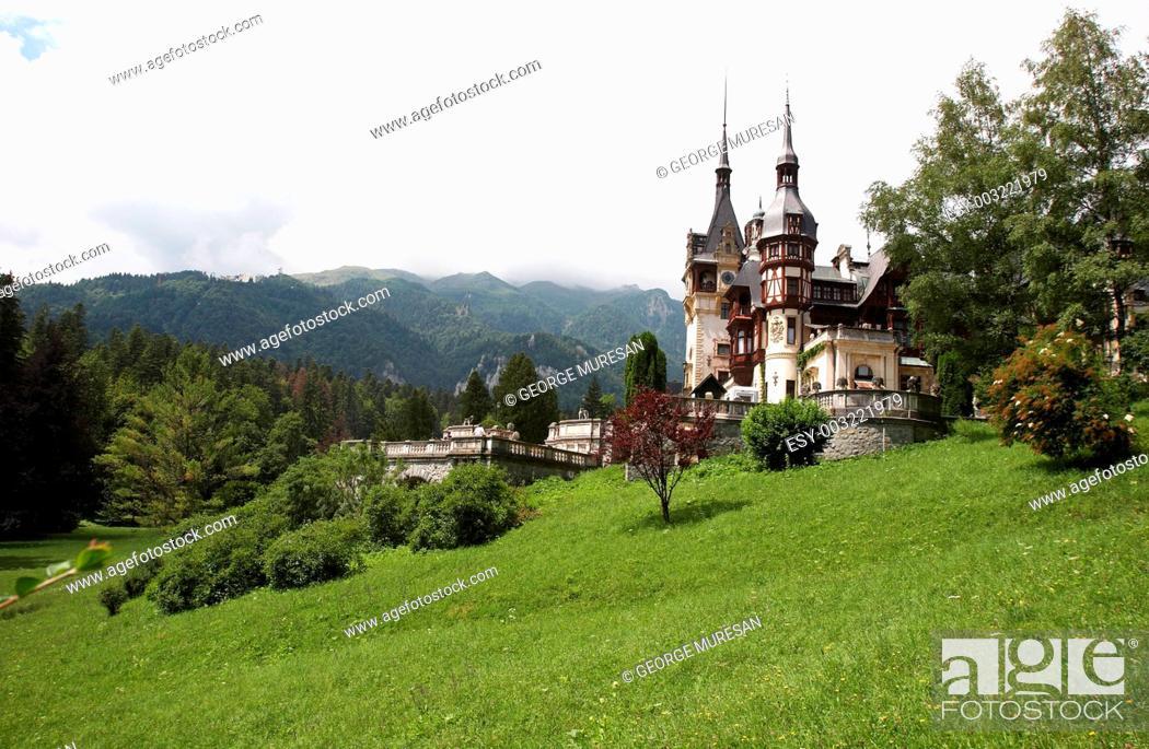 Stock Photo: Scene with castle.