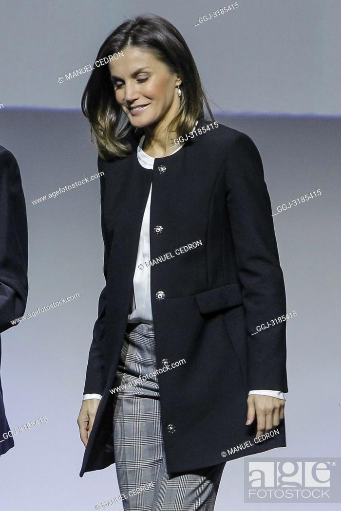 Stock Photo: Queen Letizia of Spain attends 10th anniversary of 'Integra BBVA Awards' at BBVA city on November 22, 2018 in Madrid, Spain.22/11/2018.