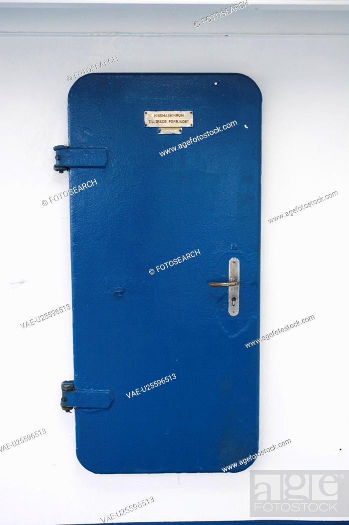 Stock Photo: Blue, Door, Entrance, Exit, Information.