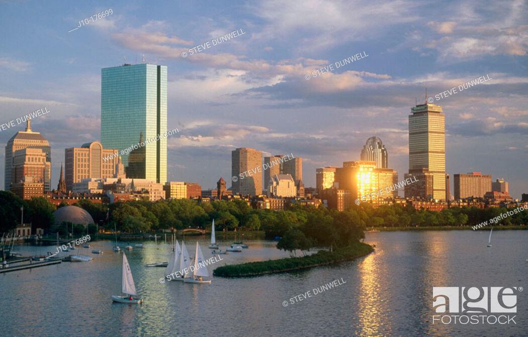 Stock Photo: Back Bay. Boston. Massachusetts. USA.