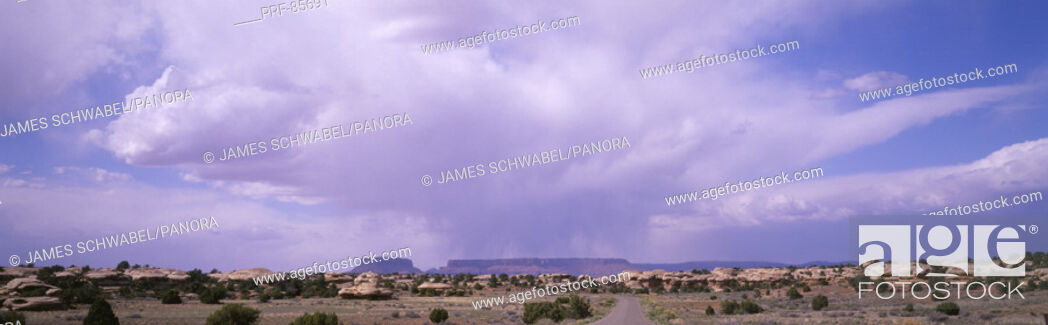 Stock Photo: Storm Clouds Over Canyonlands National Park UT.