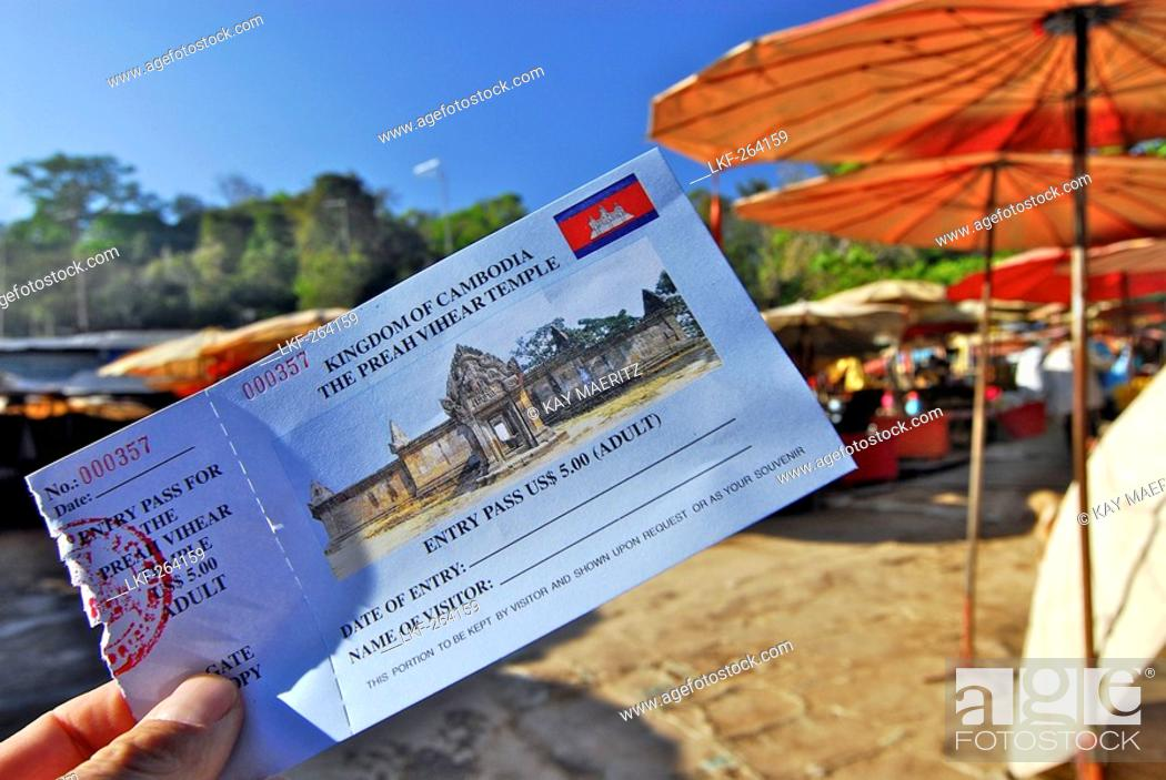 Cambodian entry ticket, historical site disputed between