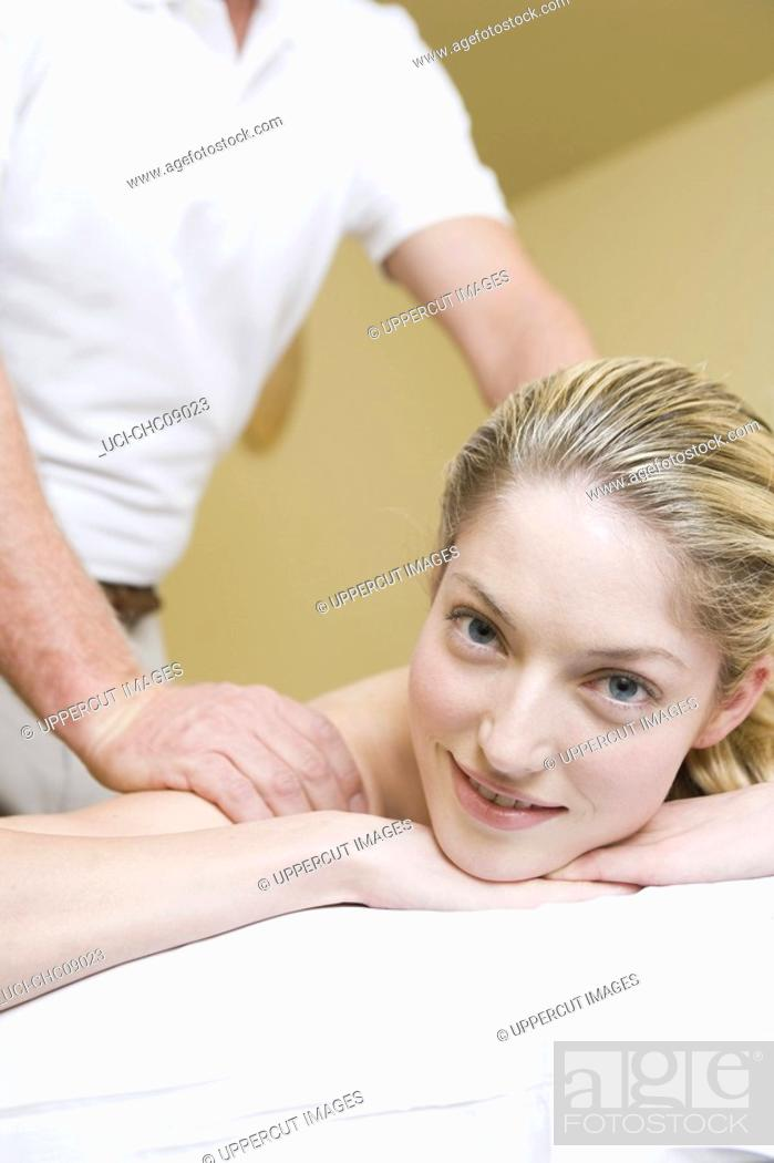 Stock Photo: Woman receiving massage.
