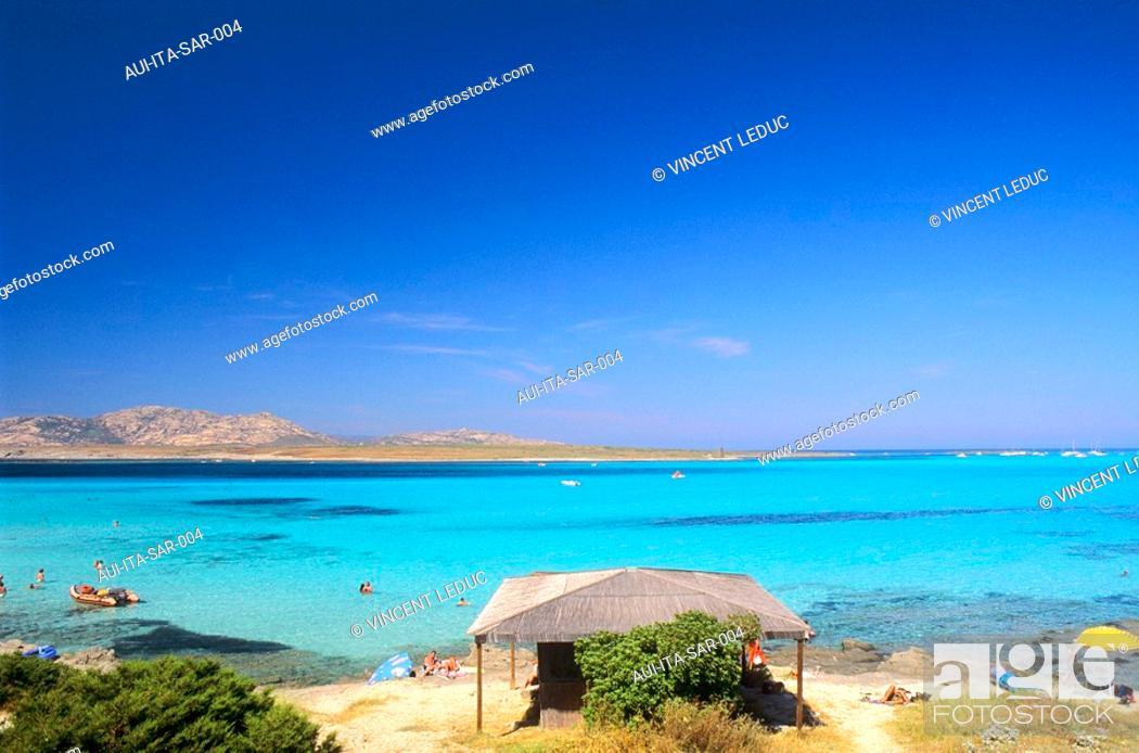 Stock Photo: Italy - Sardinia - West Coast Region - Stintino - La Pelosa.