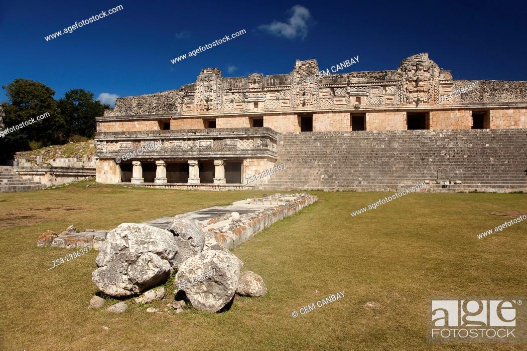 Stock Photo: Quadrangle Of The Nuns, Uxmal Ruins, Yucatan Province, Mexico, Central America.