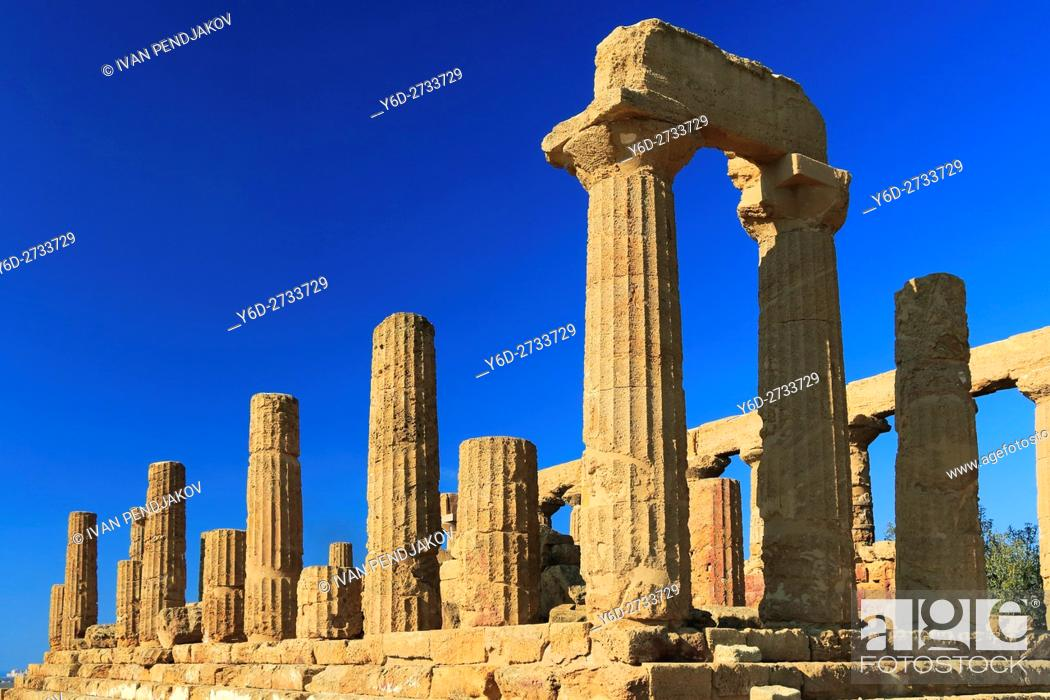 Imagen: Temple of Juno, Valley of the Temples, Sicily, Italy.
