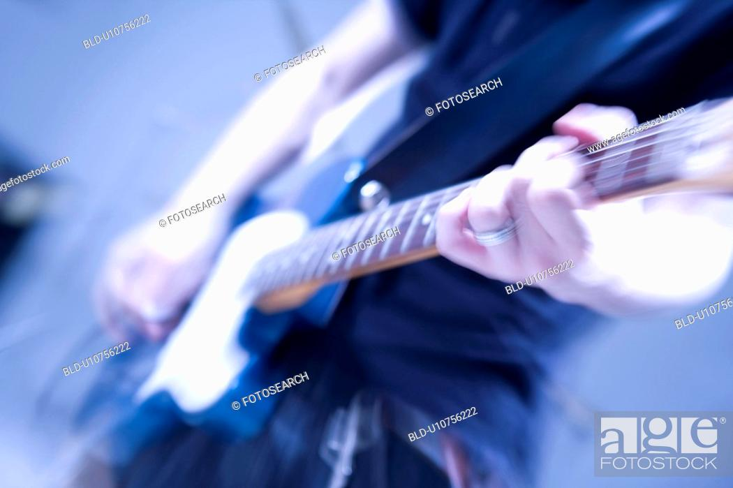 Stock Photo: Electric guitar.