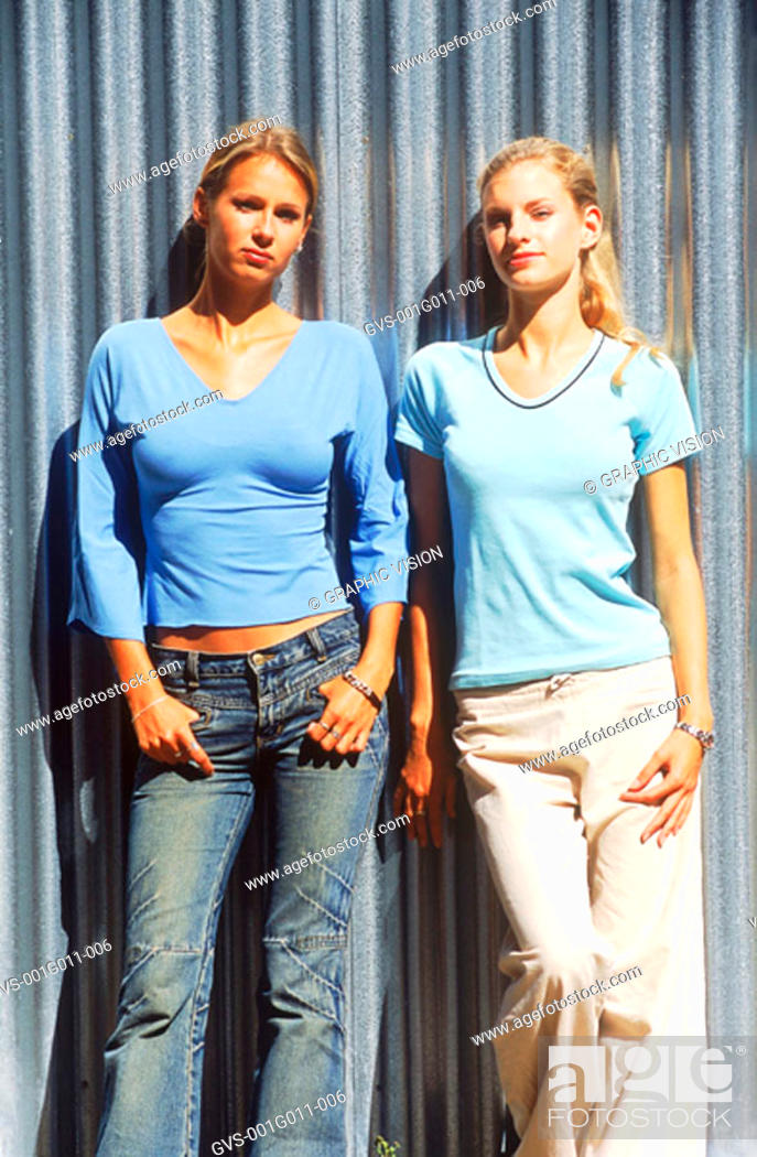 Stock Photo: Portrait of Young women standing.