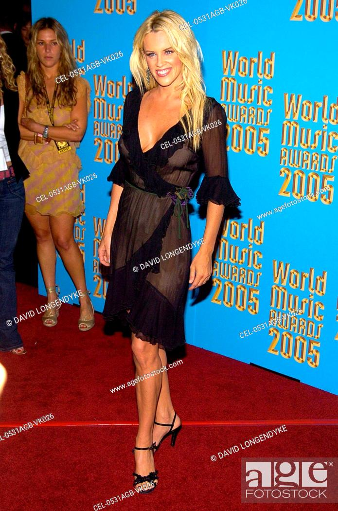 Jenny McCarthy at arrivals for The World Music Awards 2005