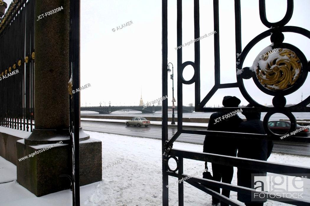 Stock Photo: Russia, St Petersburg, exit of the summer garden.