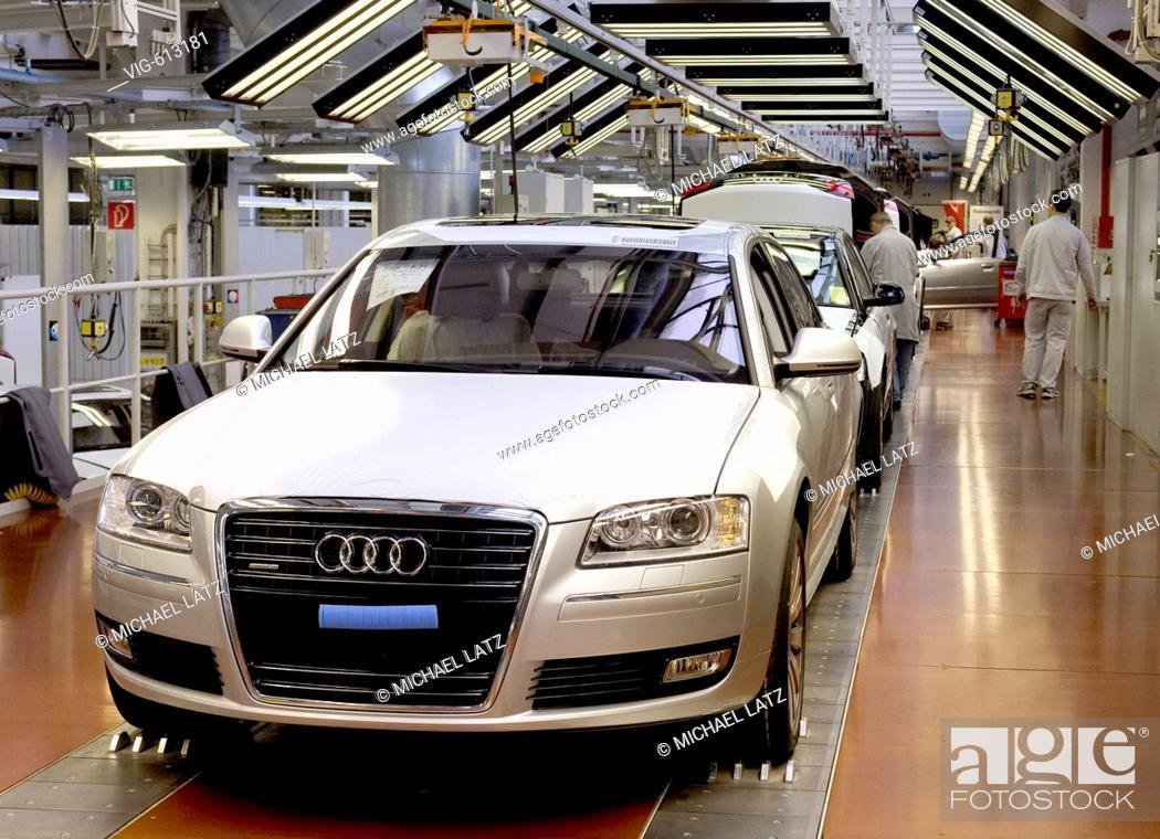 GERMANY, NECKARSULM, 23 01 2008, final assembly of Audi 8 in