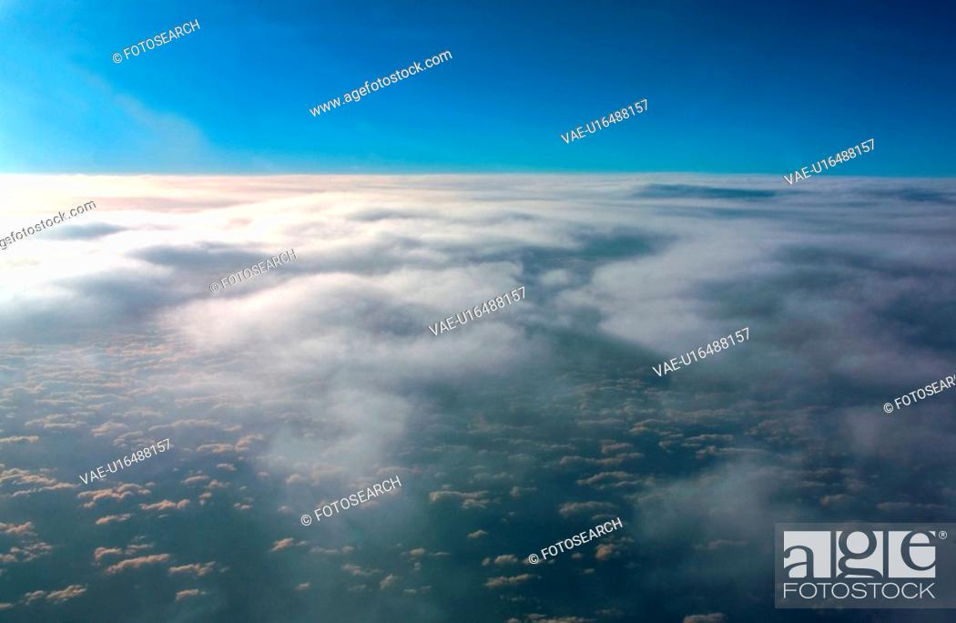 Stock Photo: clouds, scene, outdoors, background, view, cloud.