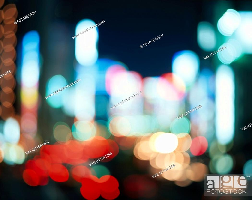 Stock Photo: Neon Lights.