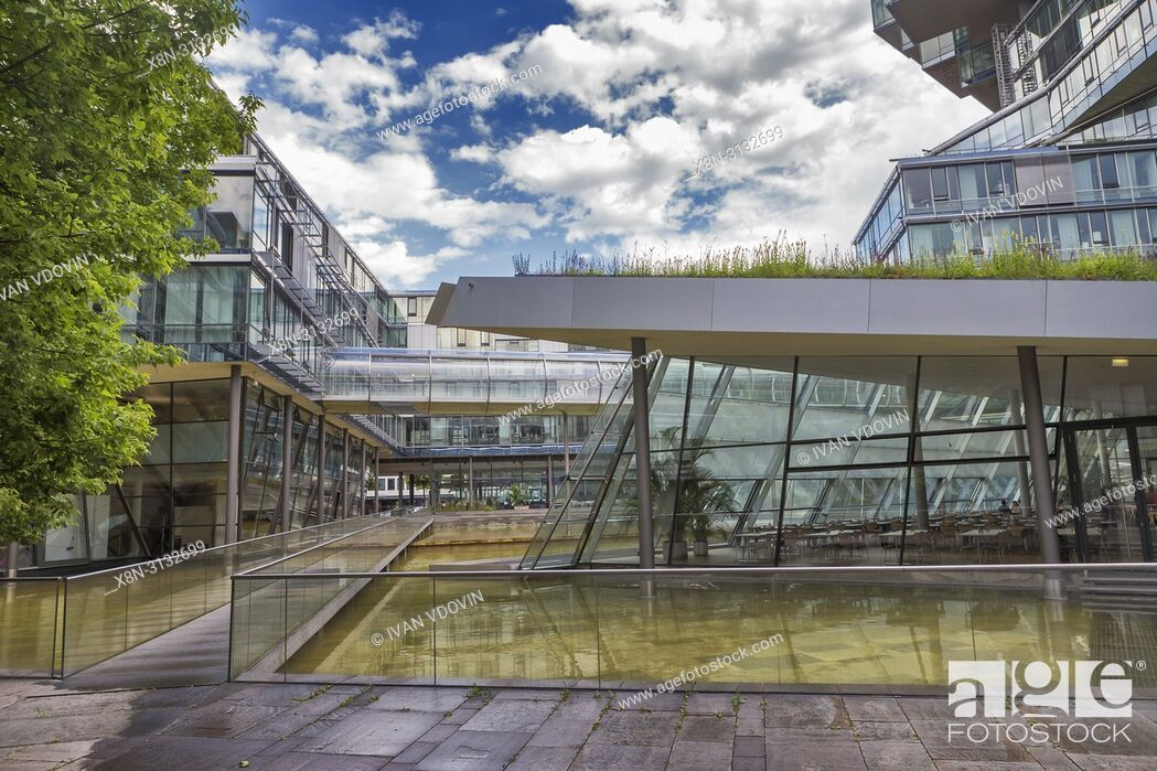 Stock Photo: Headquarters building of Norddeutsche Landesbank (2002), Hanover, Lower Saxony, Germany.