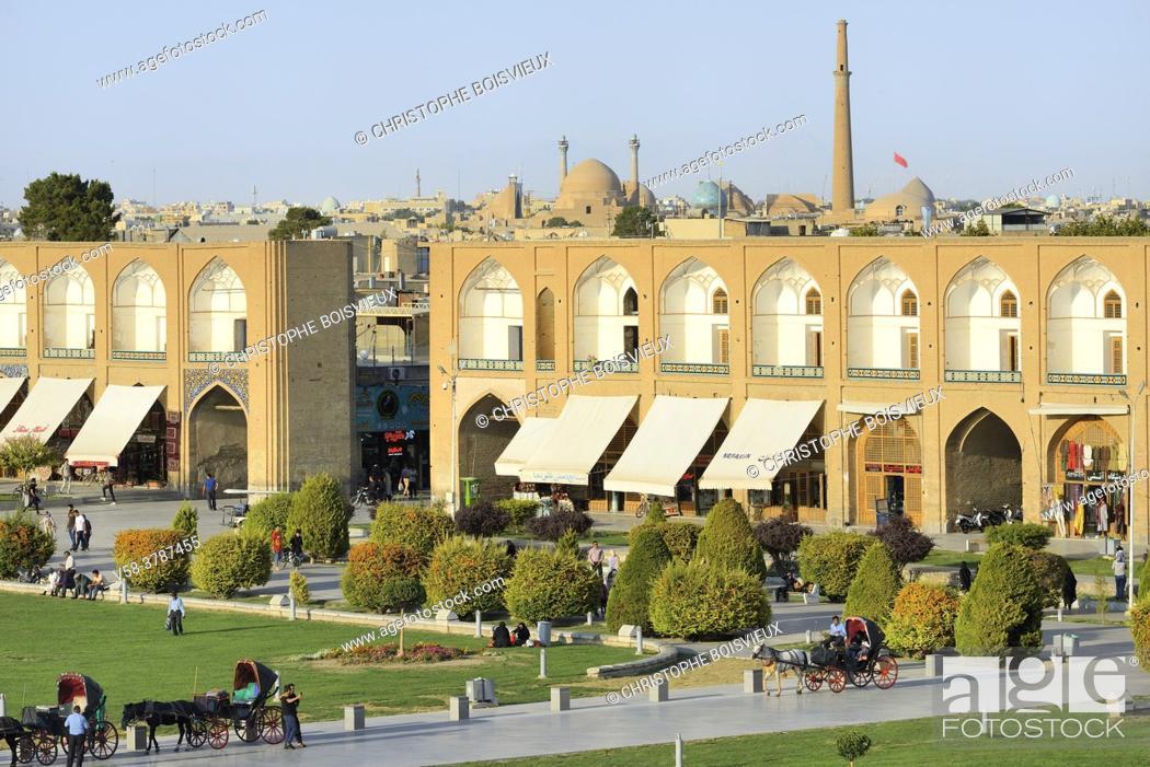 Stock Photo: Iran, Isfahan, World Heritage Site, Naqhsh-e Jahan Square (Imam square).
