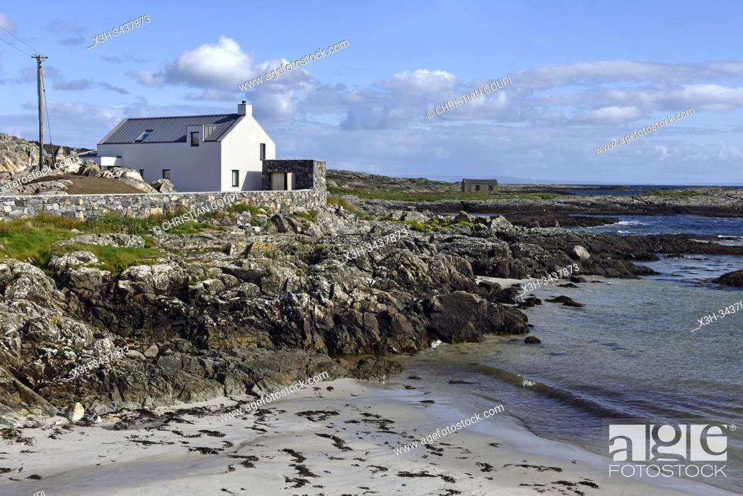 Stock Photo: Lettermullan island, west coast, County of Galway, Connemara, Republic of Ireland, North-western Europe.