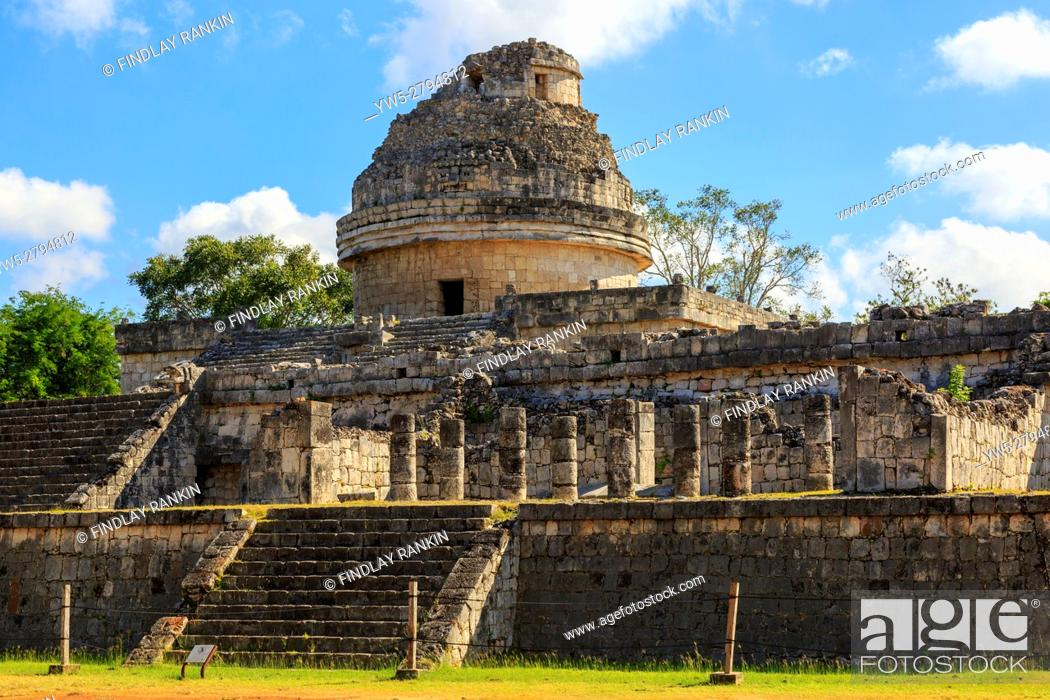 Photo de stock: The Observatory, Chichen Itza, Yucatan Provence, Mexico.