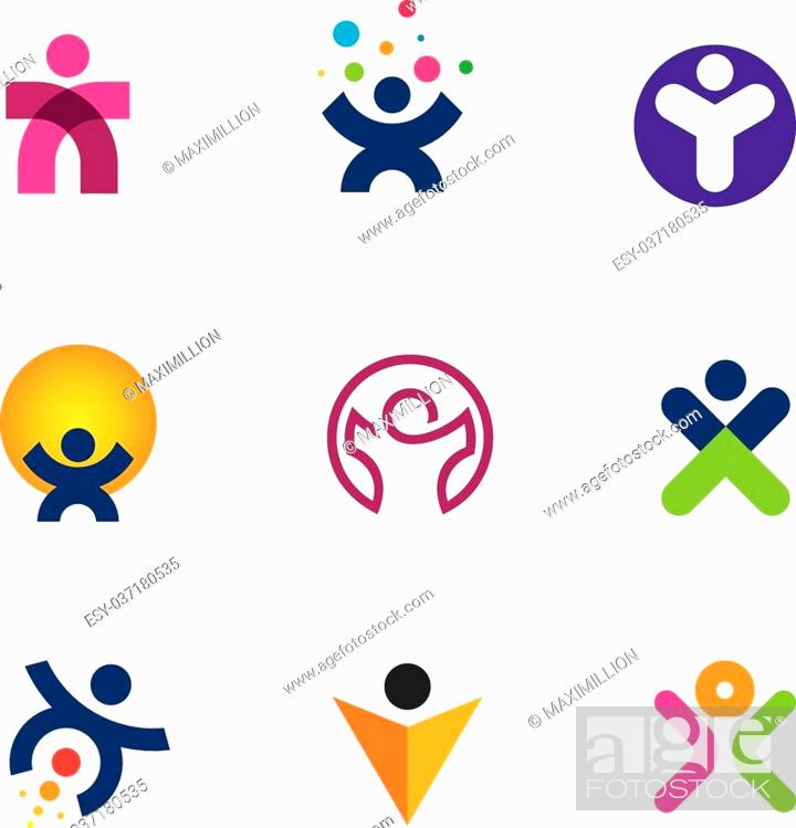 Make impact creating innovation for fulfillment of human potential logo  icon, Stock Vector, Vector And Low Budget Royalty Free Image. Pic.  ESY-037180535 | agefotostock