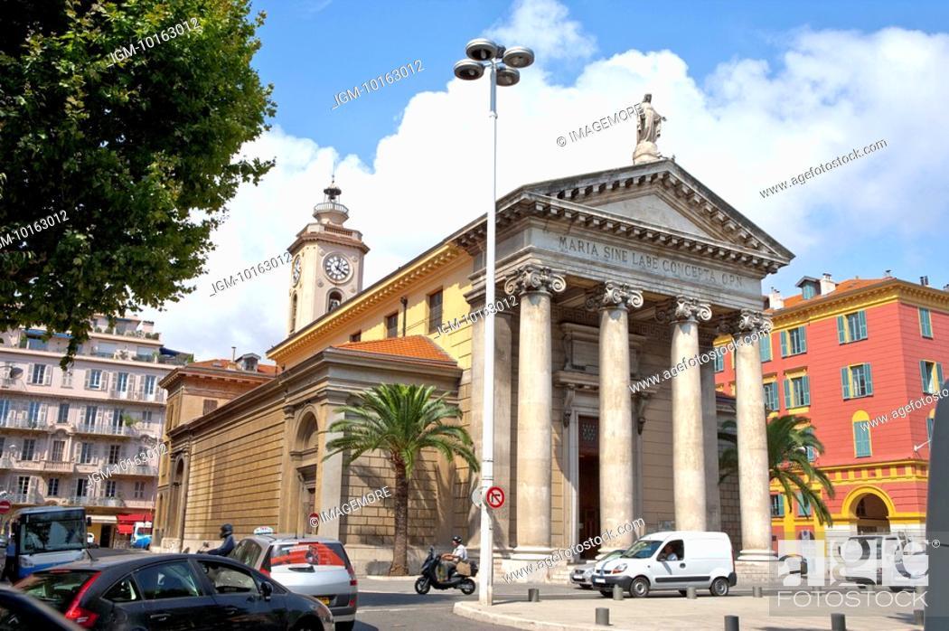 Stock Photo: Notre Dame Du Port, Nice, Provence-Alpes-Cote d'Azur, France, Europe.