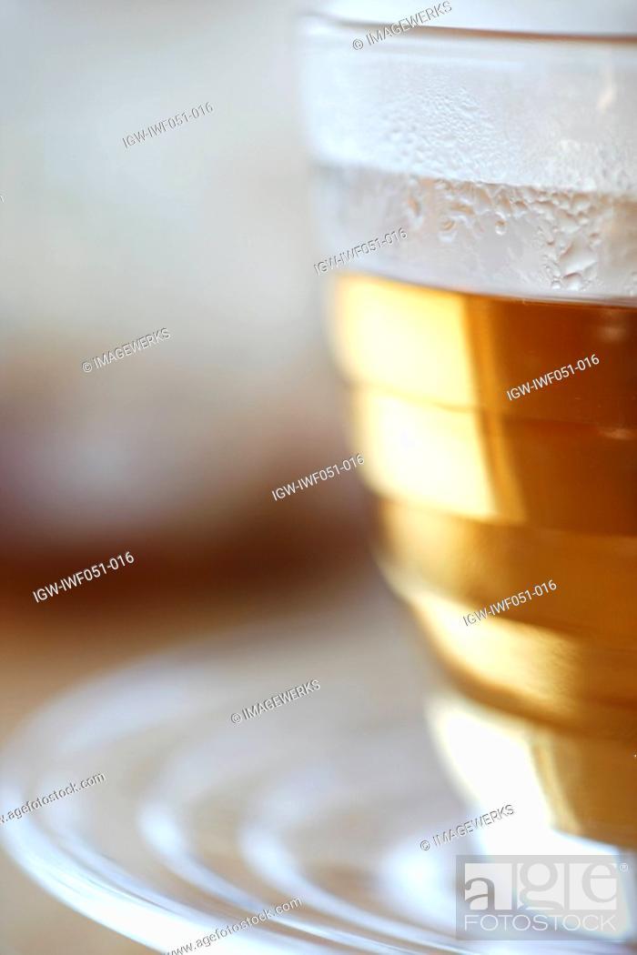 Stock Photo: Tea cup and saucer, close-up.