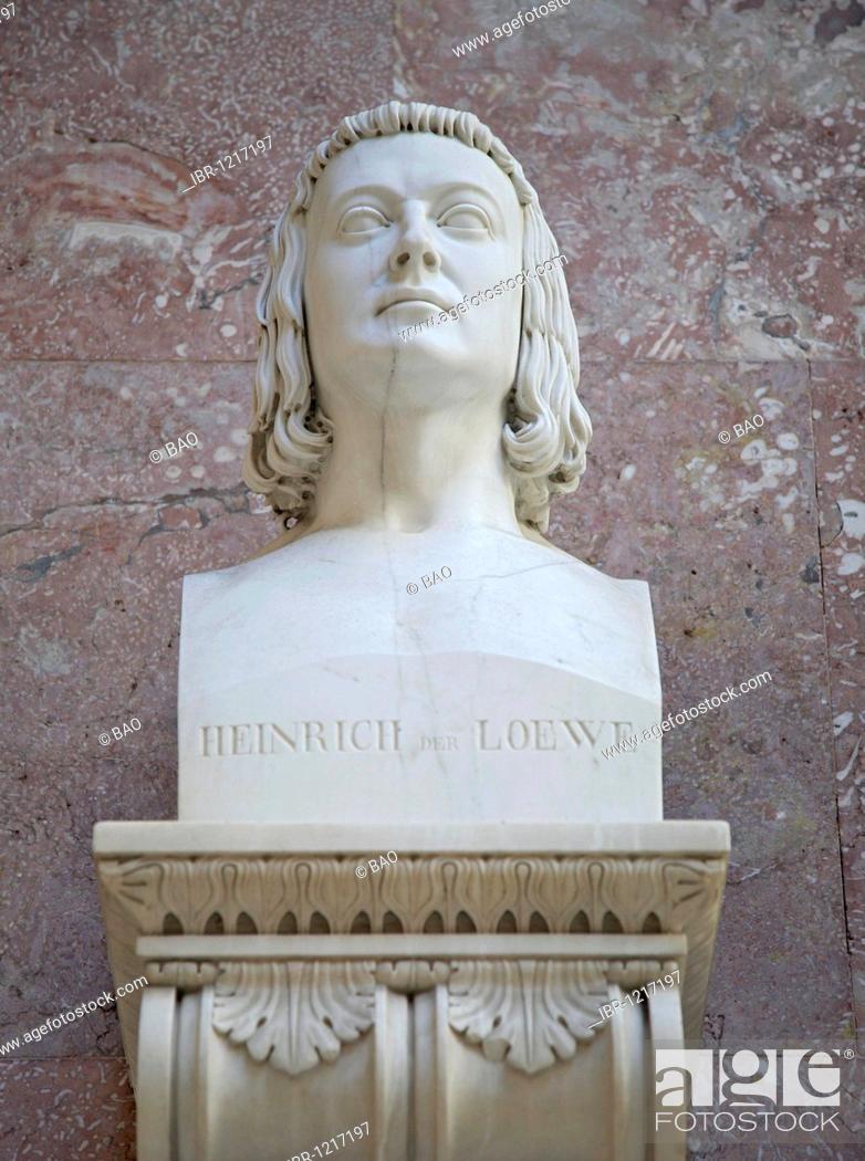 Stock Photo: Bust of Heinrich der Loewe, Duke of Saxony and Bavaria.