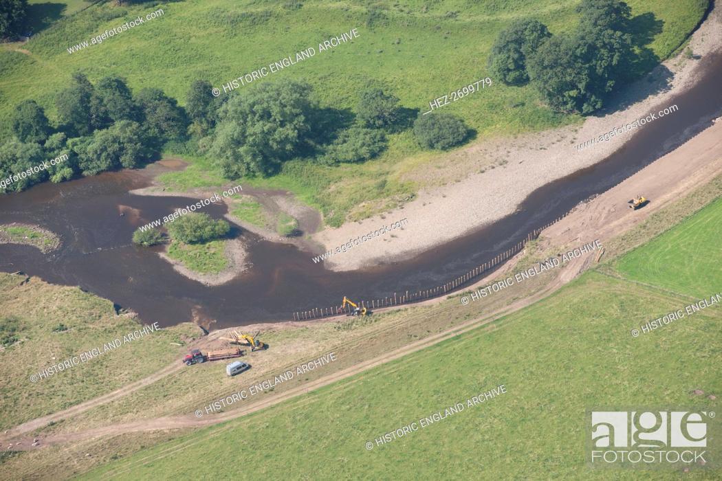 Stock Photo: River Ure restoration near Jervaulx Abbey, North Yorkshire, 2014. Creator: Historic England Staff Photographer.