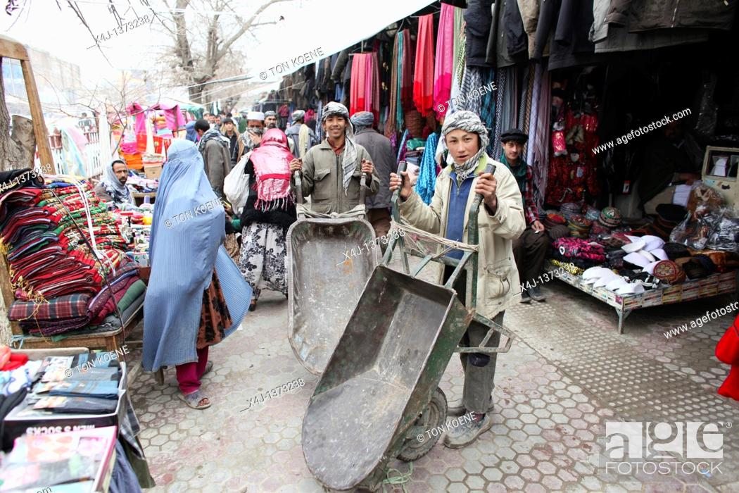 Stock Photo: Daily life on the market in Kunduz.
