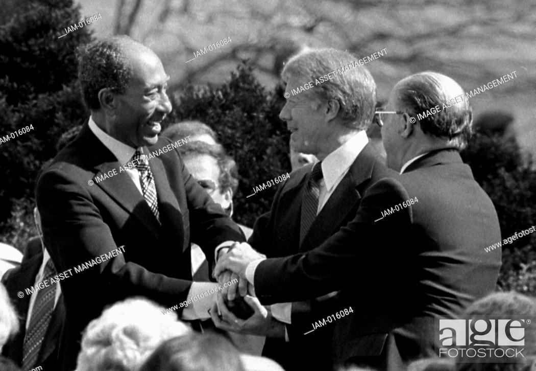 Egyptian President Anwar Sadat Us President Jimmy Carter And