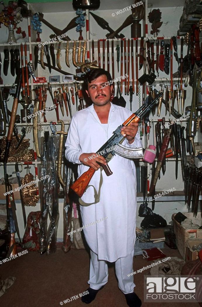Stock Photo: Pakistan, N W Frontier Province, village of Darra Adam Khel, gun factory.