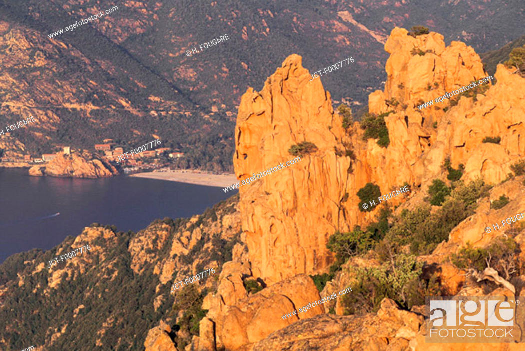 Stock Photo: France, Corsica, The Calanches of Piana.