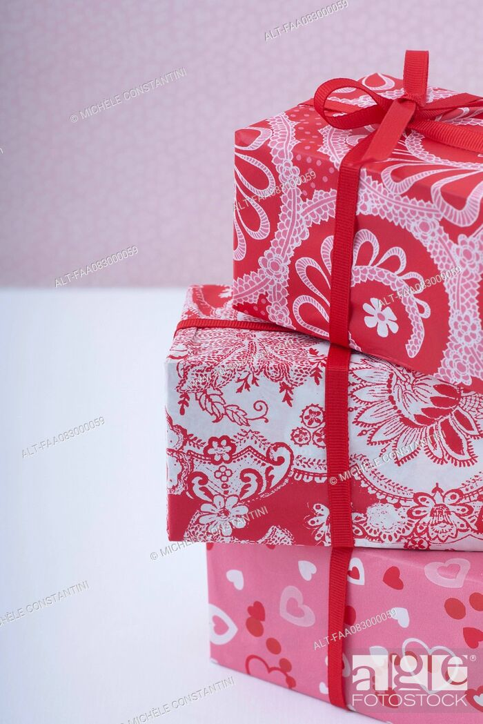 Stock Photo: Festively wrapped gifts.