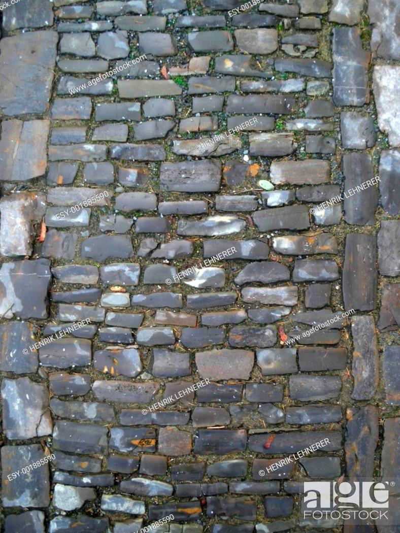 Stock Photo: Cobblestone.