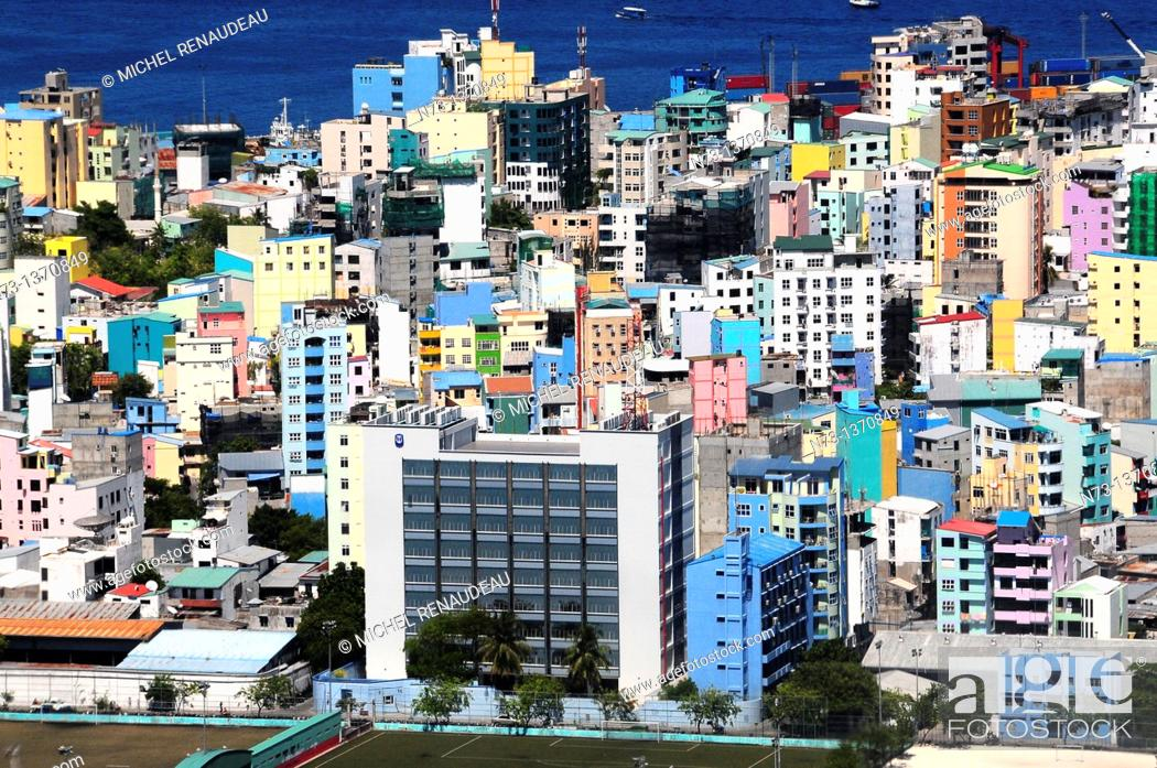 Stock Photo: ndian Ocean, Maldives, Male 'city built and already cramped on an island.