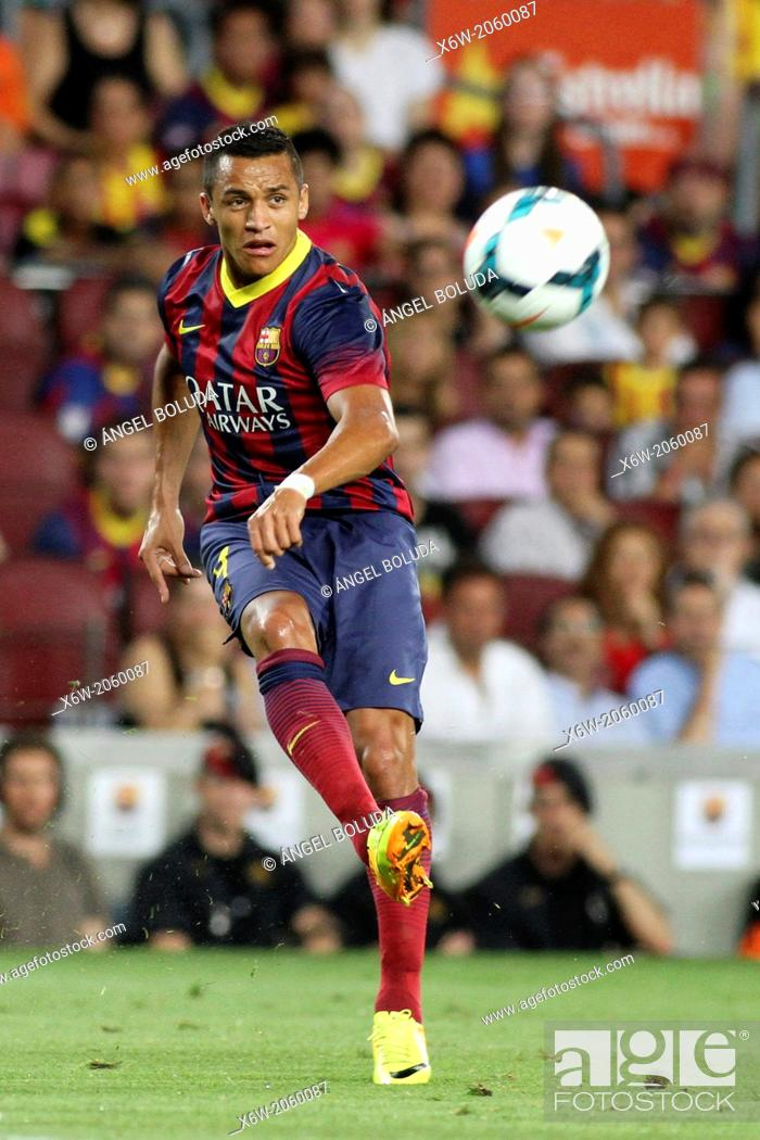 Stock Photo: FC Barcelona. Alexis Sánchez in action.