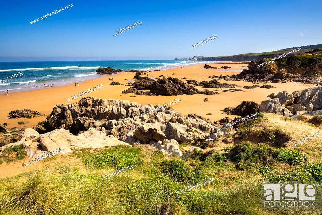 Stock Photo: Canallave beach, Liencres Natural Park. Cantabrian Sea. Santander, Cantabria Spain. Europe.