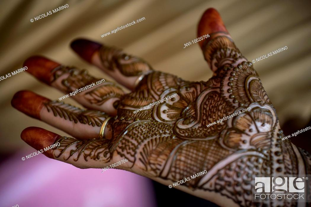 Traditional Henna Painting Jaipur India Stock Photo Picture And