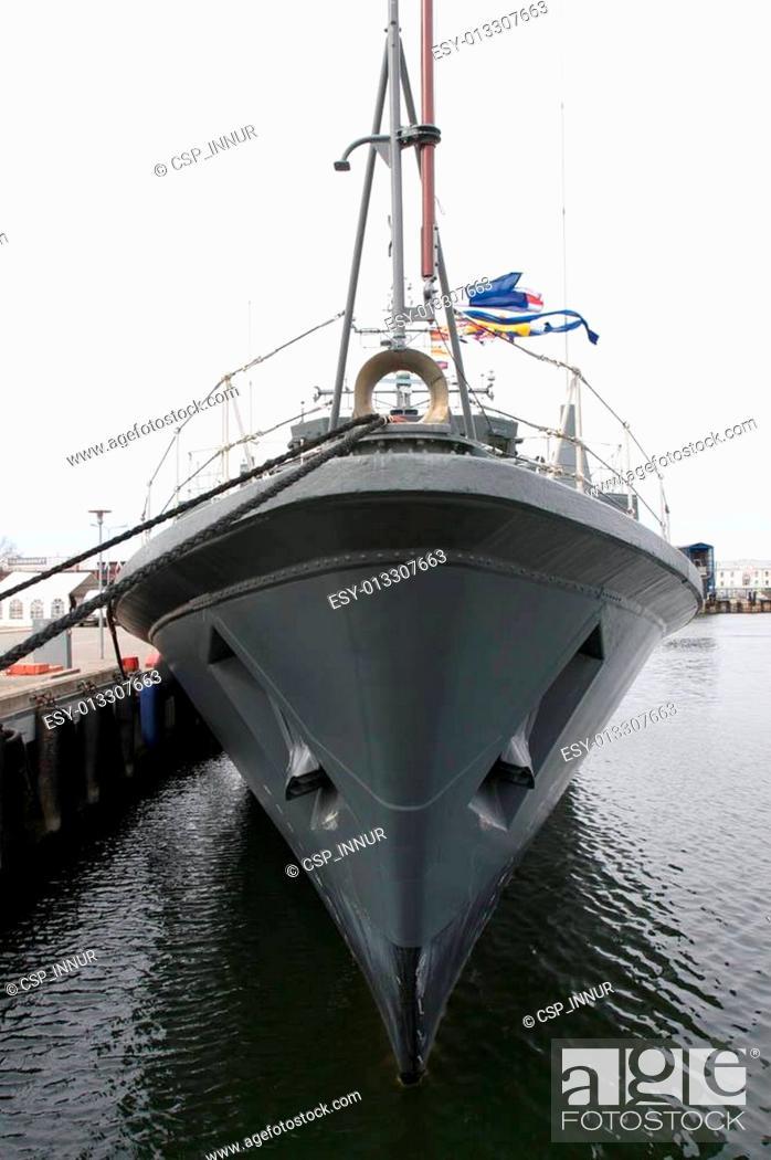 Stock Photo: Navy ship.
