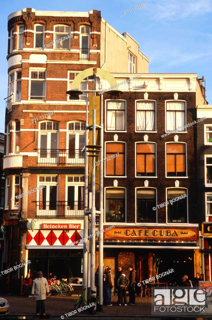 Stock Photo: Netherlands, Amsterdam, street scene, café.