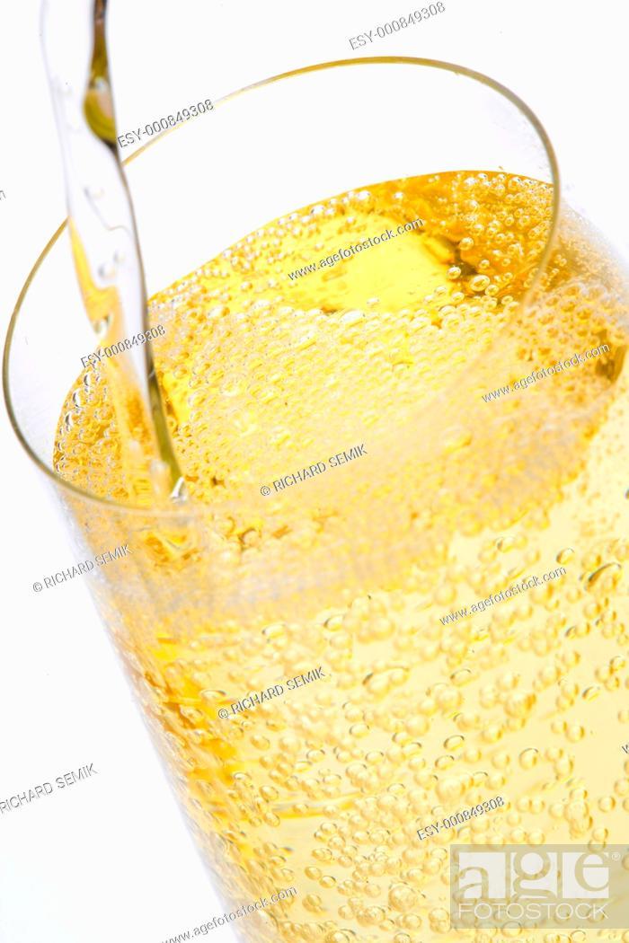 Stock Photo: wine glass of champagne.